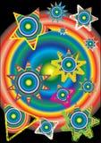 Disegno astratto del reticolo con le stelle Fotografie Stock