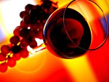 Disegno astratto della cristalleria del vino Fotografia Stock