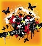 Disegno astratto della farfalla Fotografie Stock Libere da Diritti