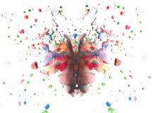 Disegno astratto della farfalla dell'acquerello Fotografie Stock Libere da Diritti