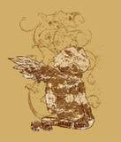 Disegno astratto della maglietta Immagini Stock Libere da Diritti