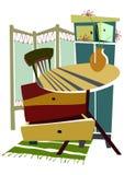 Disegno astratto della mobilia Fotografie Stock
