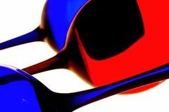 Disegno astratto della priorità bassa della cristalleria del vino Fotografie Stock