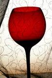 Disegno astratto della priorità bassa della cristalleria del vino Immagini Stock