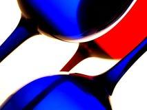 Disegno astratto della priorità bassa della cristalleria del vino Fotografia Stock