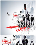Disegno astratto di affari Fotografie Stock
