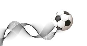 Disegno astratto di calcio illustrazione di stock
