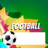 Disegno astratto di gioco del calcio di stile illustrazione di stock