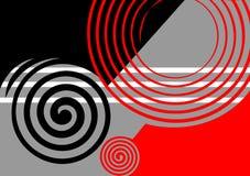 Disegno astratto nero-grigio-rosso. Fotografia Stock