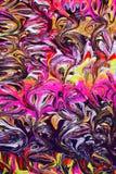 Disegno astratto originale della vernice Fotografie Stock