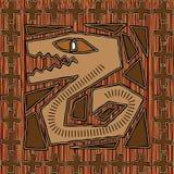 Disegno azteco Immagini Stock Libere da Diritti