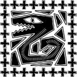 Disegno azteco del serpente Fotografia Stock Libera da Diritti