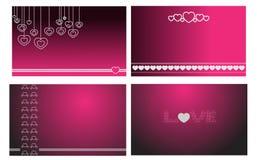 Disegno bello del baground del biglietto di S. Valentino Fotografia Stock Libera da Diritti
