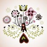 Disegno bello dell'albero Fotografia Stock