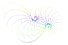 Disegno bianco viola blu dell'estratto di frattalo illustrazione vettoriale