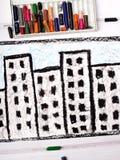 disegno: blocco residenziale Immagine Stock Libera da Diritti