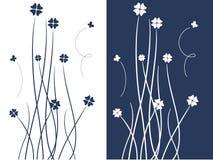 Disegno blu dei fiori illustrazione vettoriale