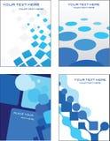 Disegno blu del modello del biglietto da visita Fotografie Stock