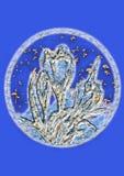 Disegno blu dell'artista Fotografia Stock