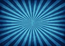 Disegno blu di burst della stella dell'annata Immagini Stock