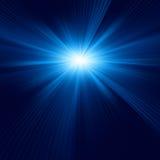Disegno blu di colore con un burst. ENV 8 Immagine Stock Libera da Diritti