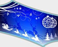 Disegno blu di natale illustrazione di stock