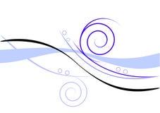 Disegno blu floreale Fotografia Stock Libera da Diritti