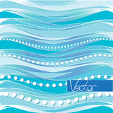 Disegno blu Progettazione di massima astratta di vettore Bande blu del fondo Fotografia Stock Libera da Diritti