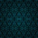 Disegno blu scuro senza cuciture della carta da parati dell'annata delle mattonelle Fotografie Stock