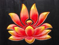 Disegno buddista del loto fotografie stock