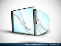 Disegno CD del coperchio con il modello di presentazione 3D Fotografia Stock