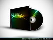 Disegno CD del coperchio con il modello di presentazione 3D Immagine Stock