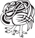 Disegno celtico dell'uccello Fotografie Stock