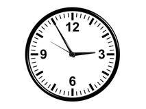 Disegno classico dell'orologio di parete dell'ufficio Fotografie Stock