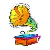 Disegno Colourful del grammofono illustrazione vettoriale