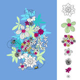 Disegno con i fiori Fotografia Stock