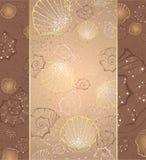 Disegno con i seashells Fotografie Stock