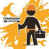 Disegno in costruzione Fotografia Stock