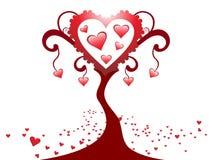 Disegno creativo astratto dell'albero del cuore Fotografia Stock