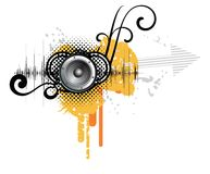 Disegno creativo astratto di musica Immagini Stock Libere da Diritti
