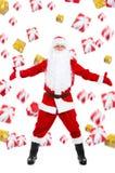 Disegno creativo del Babbo Natale Immagini Stock Libere da Diritti