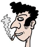Uomo del fumo Fotografia Stock Libera da Diritti