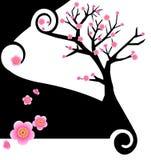 Disegno creativo di Sakura Immagini Stock