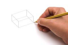 Disegno cubico Fotografia Stock Libera da Diritti