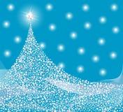 Disegno d'argento dell'albero di Natale Fotografia Stock