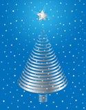 Disegno d'argento dell'albero di Natale. Fotografia Stock