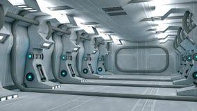 Interno futuristico illustrazione di stock