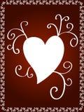 Disegno decorativo del cuore Immagini Stock