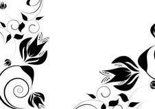 Disegno decorativo nero Immagine Stock