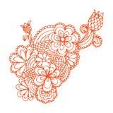 Disegno decorato del fiore Immagine Stock Libera da Diritti